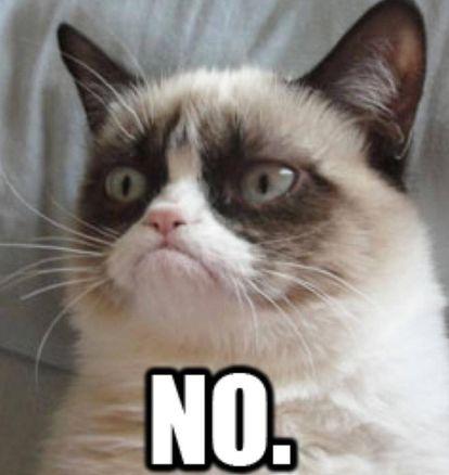 Um dos memes mais populares de Grumpy Cat. E um dos favoritos da redação.
