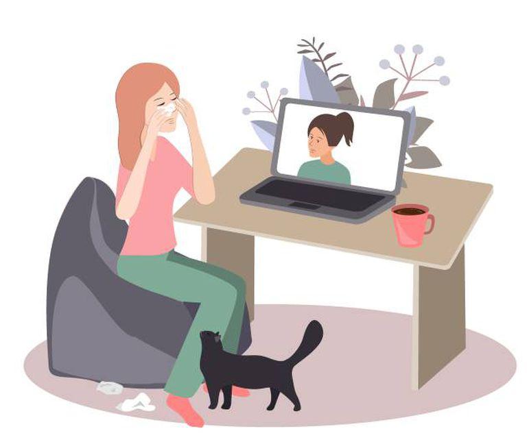 Muitas pessoas fazem atendimento psicológico por ligações em vídeo.
