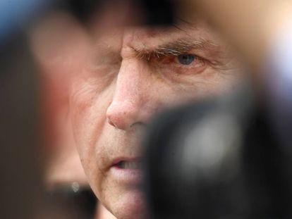 Bolsonaro durante cerimônia em Brasília nesta sexta-feira.