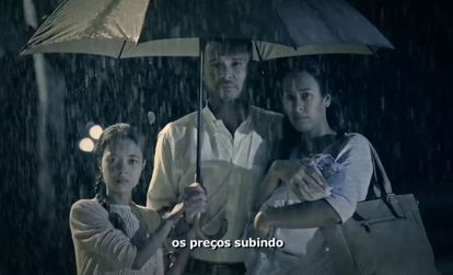 Frame da propaganda de TV do PSDB.