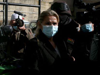 Jeanine Áñez, durante sua prisão em La Paz em março deste ano.