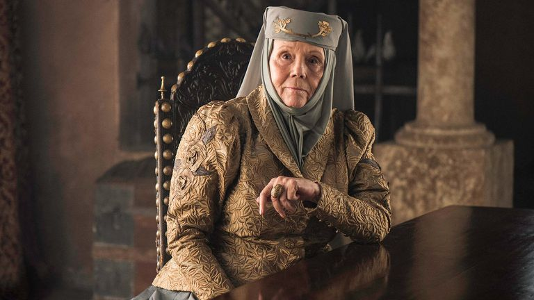 Diana Rigg, em 'Game of Thrones'.