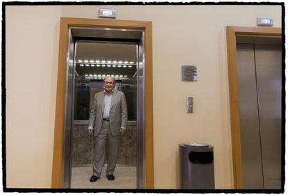 Salman Rushdie em um hotel de Xalapa.