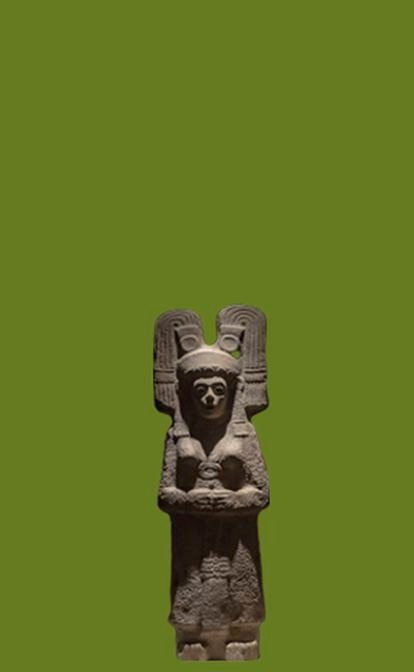 A escultura indígena que substituirá a de Colombo no México