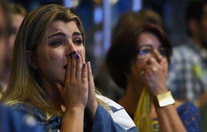 Simpatizantes do PDSB na noite eleitoral em Belo Horizonte.