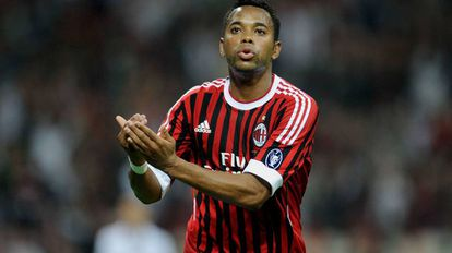 Robinho, em 2011, com a camisa do Milan.
