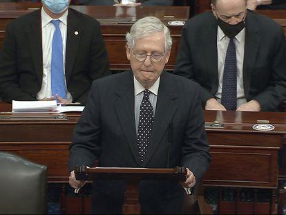 Mitch McConnell, líder da maioria republicana no Senado.