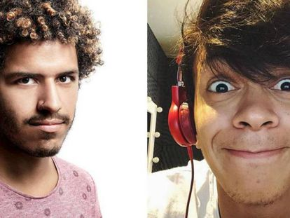Os youtubers Spartakus Santiago e Júlio Cocielo.