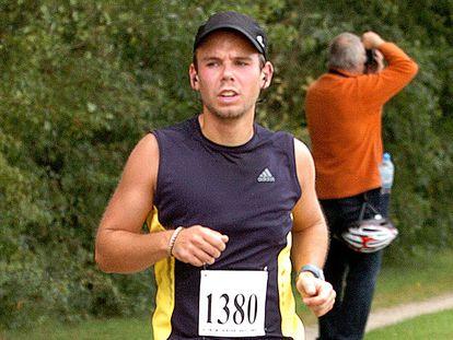 Andreas Lubitz participa da maratona Airportrace de Hamburgo, em 13 de setembro de 2009.