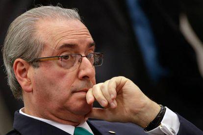 Eduardo Cunha, então presidente da Câmara dos Deputados, em foto de arquivo, 19 de maio de 2019.