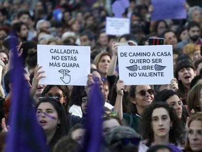 Manifestação contra a sentença da manada em Madri.