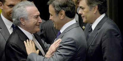Temer, Aécio e Cássio Cunha Lima.