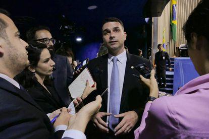 O senador eleito Flávio Bolsonaro, filho do presidente.