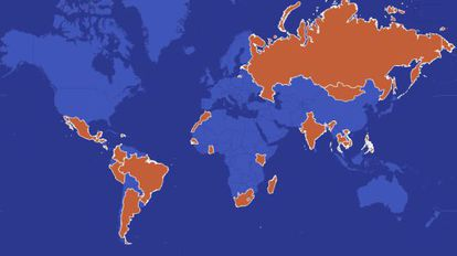 Mapa do turismo sexual no mundo. Clique na imagem para acessar o gráfico interativo.