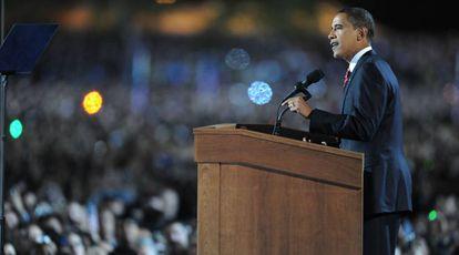 Barack Obama, depois de vencer as eleições em 2008.