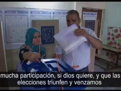 Imágenes da jornada de votação em Irak.