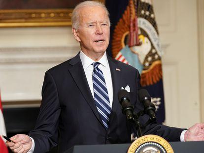Joe Biden fala à imprensa na quarta-feira passada, na Casa Branca.