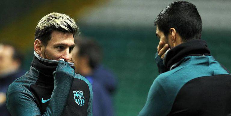 Messi e Suárez voltam ao Barça contra o Celtic.