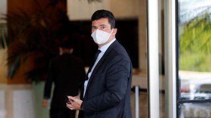 O ex-juiz Sergio Moro, em uma imagem de arquivo, na sede da PF em Brasília.