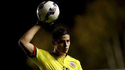 James, num jogo contra a Costa Rica em 6 de junho.