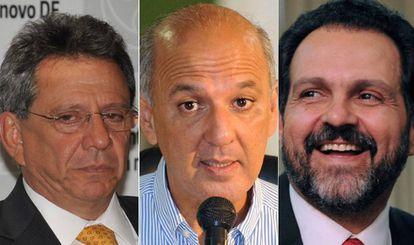 Tadeu Filippelli, assessor especial de Temer (à esq.), os ex-governadores  José Roberto Arruda e Agnelo Queiroz (à dir.)