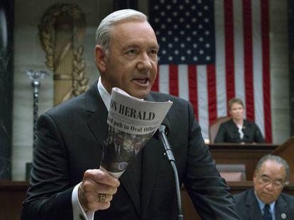 Kevin Spacey em uma cena de 'House of Cards'.
