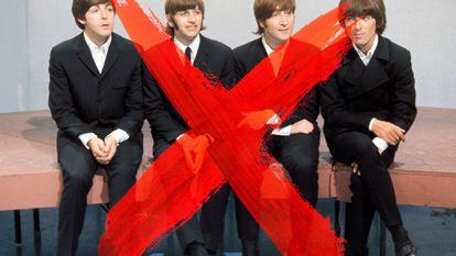 """""""Dá a sensação de que não há mais bandas; somos uma raça em extinção"""", se queixou recentemente Adam Levine, do Maroon5. Os da foto não são o Maroon5. Pelo contrário, são os Beatles."""