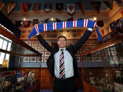 Steven Gerrard, em sua apresentação como treinador do Rangers.