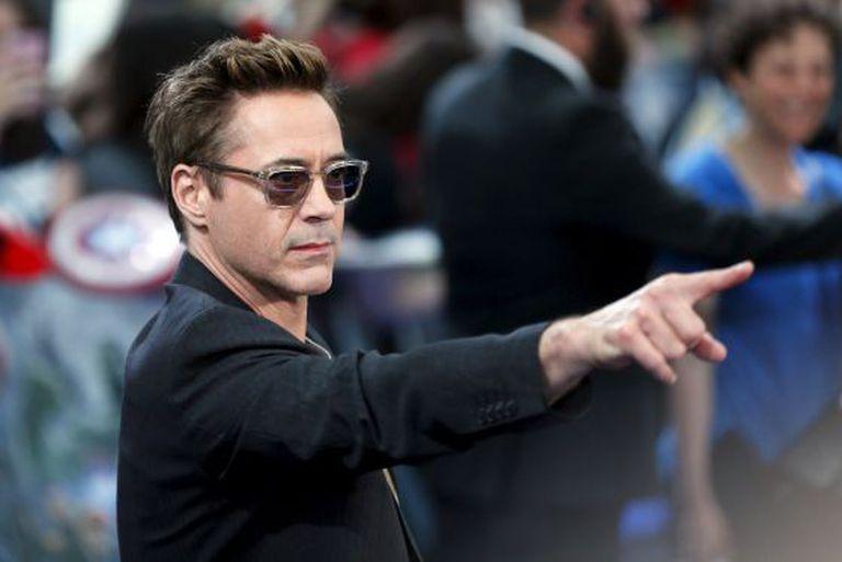 Robert Downey Jr, durante a estreia dos Vingadores.