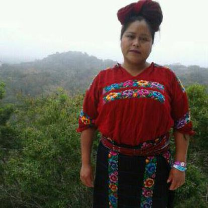 Vilma Carrillo na Guatemala, em 2018. A imagem foi fornecida por seu irmão.