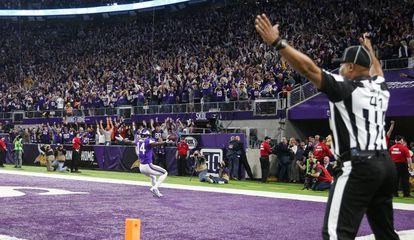 Momento em que Stefon Diggs dá a vitória ao Minnesota Vikings proporcionou um dos picos de audiência da temporada na TV paga.