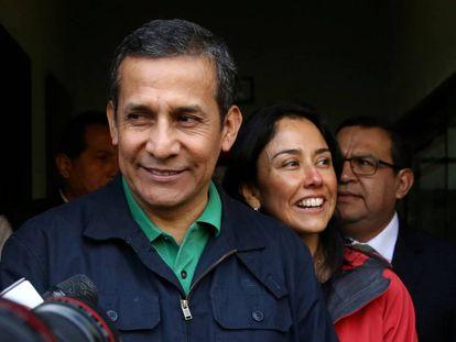 O ex-presidente do Peru Ollanta Humala e sua esposa, Nadine Heredia.