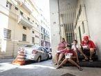 Famílias que perderam tudo com a crise e agora estão em situação de rua, em São Paulo.