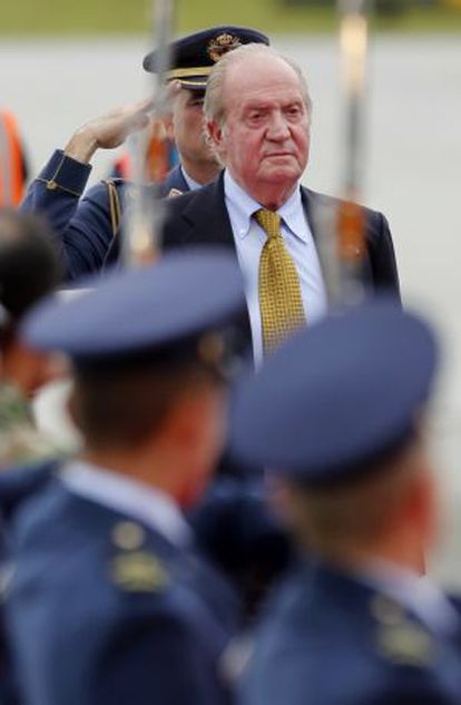 O rei Juan Carlos, durante sua última visita à Colômbia.
