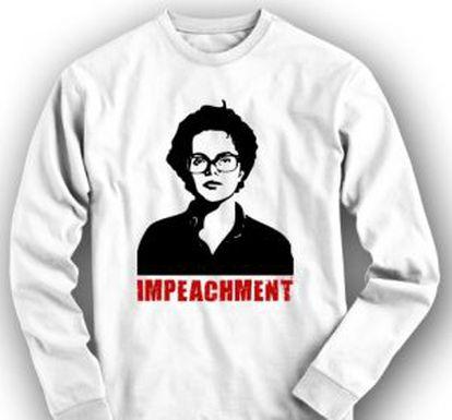 Uma das camisetas anti-Dilma, vendida a 39,90 reais.