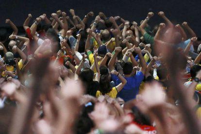 O público no Maracanã.