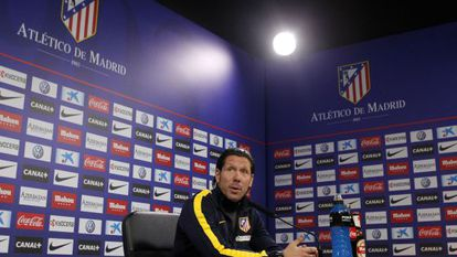 O técnico do Atlético de Madri, o argentino Simeone.