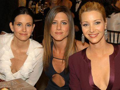 Courtney Cox, Jennifer Aniston e Lisa Kudrow, em um recente encontro.