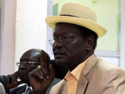 O ministro das Relações Interiores sul-sudanês, Aleu Ayienyi Aleu.