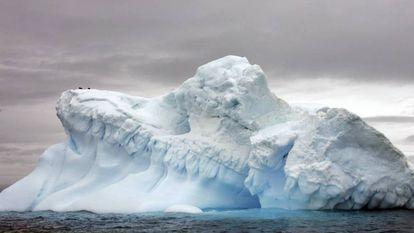 Formações de gelo na Antártida
