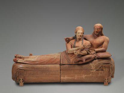 Sarcófago de argila (520-510 a.C.).