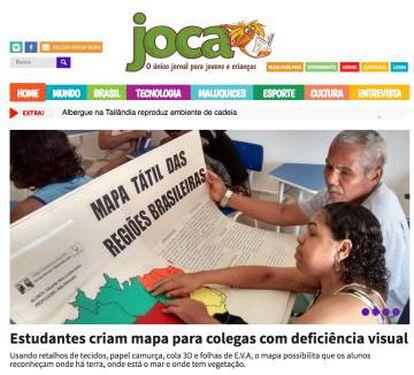 Página do jornal 'Joca'.