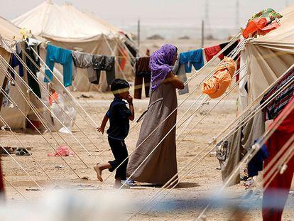 Campo de refugiados em Faluya (Iraque).