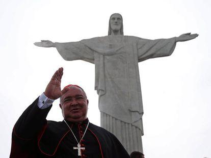 O arzebispo do Rio, Orani Tempesta, no lançamento da campanha para arrecadar fundos.