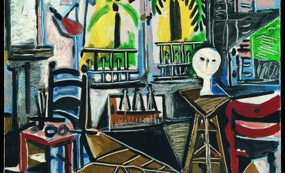 'A oficina', 1955. Óleo sobre tela, 80,9 x 64,9 cm Tate: Apresentado/Apresento por Gustav e Elly Kahnweiler em 1974, acrescentado/acrescento à coleção em 1994.