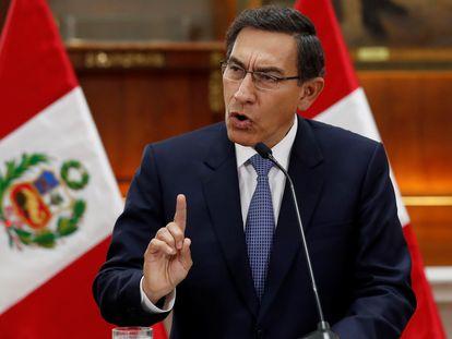 O presidente do Peru, Martín Vizcarra, em imagem de setembro.