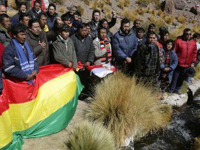 Bolivianos em um protesto na fronteira com Chile, em 2009.