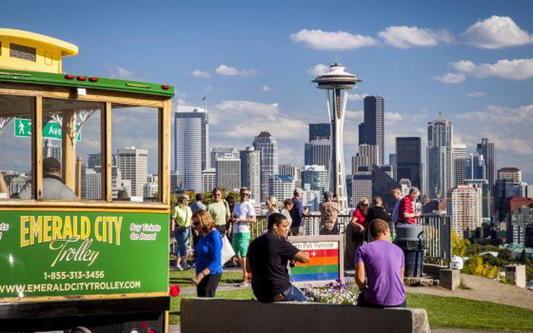 Vista do 'skyline' de Seattle desde o parque Kerry.