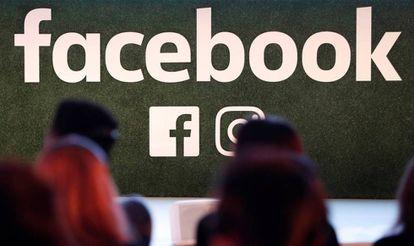 Logotipo do Facebook, em foto tirada em Bruxelas