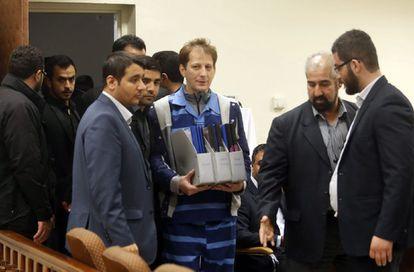 Zanjani no tribunal de Teerã, em novembro.